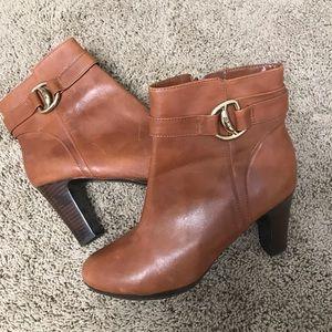 Ralph Lauren Leather High Heel Booties